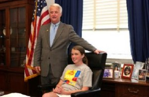 Lauren trying out a seat in Congress back in 2005. She was on her way to where she is today -- and where she is going.
