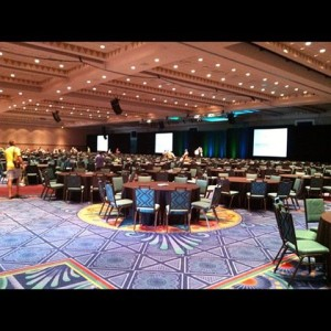 Half of the room I would speak to. It's BIG!!